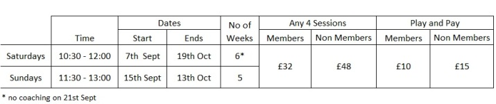 Autumn Coaching Programme Table_2019